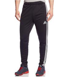 Pantalón de chándal de rayas verticales en negro y blanco