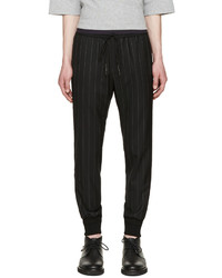 Pantalón de chándal de rayas verticales negro