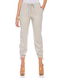 Pantalón de chándal de seda gris