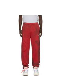 Pantalón de chándal efecto teñido anudado rojo de Off-White