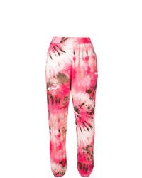 Pantalón de chándal efecto teñido anudado rosado de MSGM