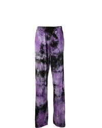 Pantalón de chándal efecto teñido anudado violeta claro de MM6 MAISON MARGIELA