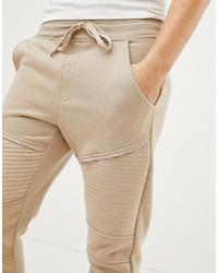 Pantalón de chándal en beige de Brave Soul