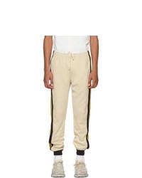 Pantalón de chándal en beige de Gucci