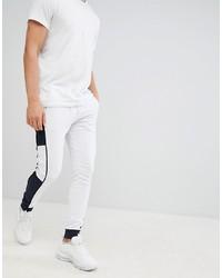 Pantalón de chándal en blanco y negro de ASOS DESIGN