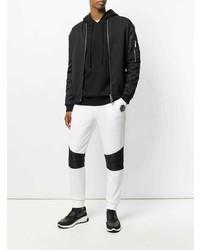 Pantalón de chándal en blanco y negro de Philipp Plein