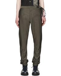 Pantalón de chándal en gris oscuro de Jil Sander