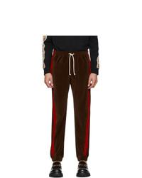 Pantalón de chándal en marrón oscuro de Gucci