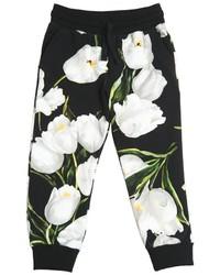 Pantalón de Chándal en Negro y Blanco