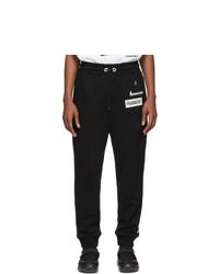 Pantalón de chándal en negro y blanco de Moncler Genius