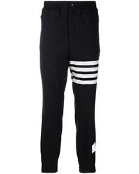 Pantalón de chándal en negro y blanco de Thom Browne