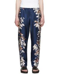 Pantalón de chándal estampado azul marino