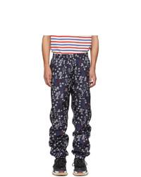 Pantalón de chándal estampado azul marino de Moncler Genius