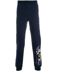 Pantalón de chándal estampado azul marino de Versace