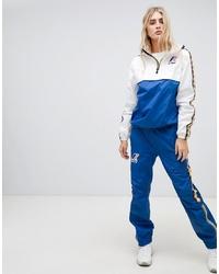 Pantalón de chándal estampado azul de K-Way