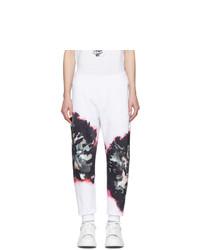 Pantalón de chándal estampado blanco de Alexander McQueen