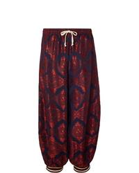 Pantalón de chándal estampado burdeos de Gucci