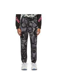 Pantalón de chándal estampado en gris oscuro de Diesel