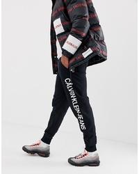 Pantalón de chándal estampado en negro y blanco de Calvin Klein Jeans