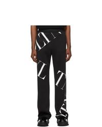 Pantalón de chándal estampado en negro y blanco de Valentino