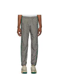 Pantalón de chándal estampado gris de Gucci