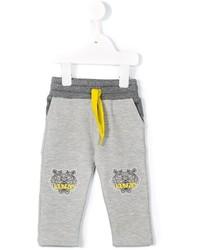 Pantalón de chándal estampado gris de Kenzo