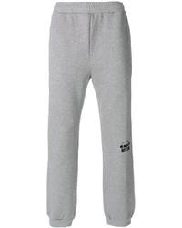 Pantalón de chándal estampado gris de MSGM