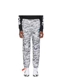 Pantalón de chándal estampado gris de Off-White
