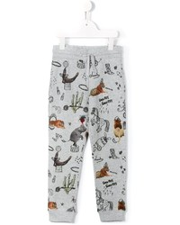 Pantalón de chándal estampado gris de Stella McCartney