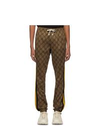 Pantalón de chándal estampado marrón de Gucci