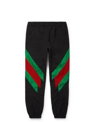Pantalón de chándal estampado negro de Gucci