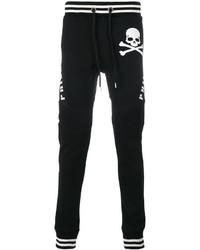 Pantalón de Chándal Estampado Negro de Philipp Plein