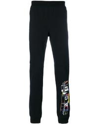 Pantalón de chándal estampado negro de Versace