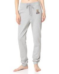 Pantalón de chándal gris de Moschino