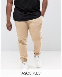 Pantalón de chándal marrón claro de Asos