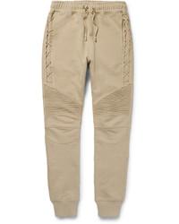 Pantalón de chándal marrón claro de Balmain