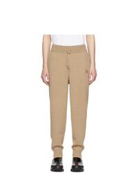 Pantalón de chándal marrón claro de Burberry