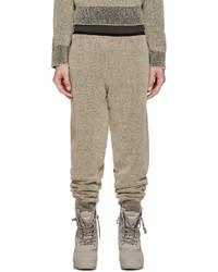 Pantalón de chándal marrón claro de Yeezy