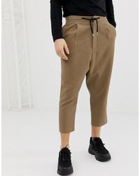 Pantalón de chándal marrón de ASOS DESIGN