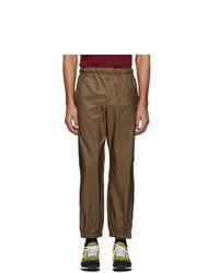 Pantalón de chándal marrón de Prada