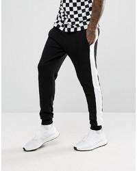 Pantalón de Chándal Negro y Blanco