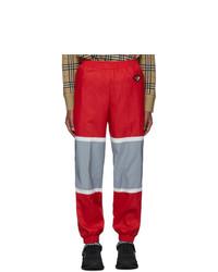 Pantalón de chándal rojo de Burberry