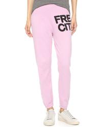 Pantalón de chándal rosado de Freecity