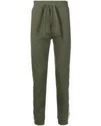 Pantalón de chándal verde oliva de Moschino
