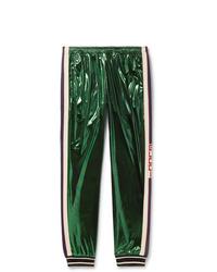 Pantalón de chándal verde oscuro de Gucci