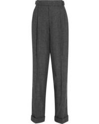 Pantalón de pinzas a cuadros en gris oscuro