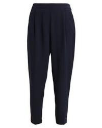 Pantalón de Pinzas Azul Marino de Oasis