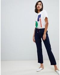 Pantalón de pinzas azul marino de Vero Moda