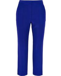 Pantalón de pinzas azul de Alexander McQueen