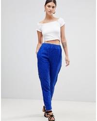Pantalón de pinzas azul de ASOS DESIGN